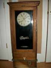 Antique Simplex Time Recorder, Industrial Time Clock  Gardner Mass   works