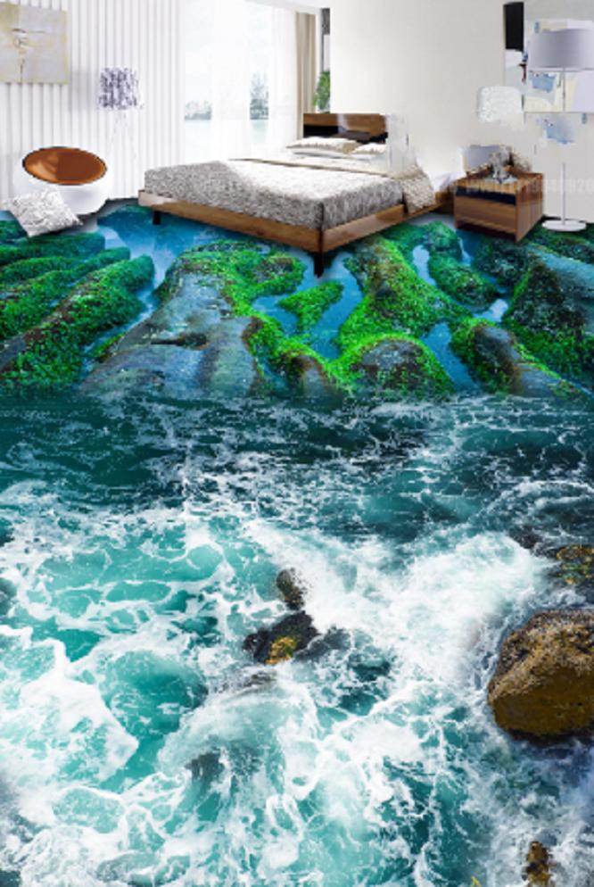 3D Stone Valley River 79 Floor WallPaper Murals Wall Print Decal AJ WALLPAPER US