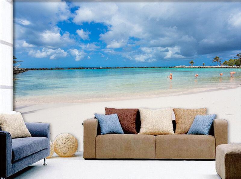 3D Himmel Meer Strand 8399 Tapete Wandgemälde Tapeten Bild Familie DE Lemon