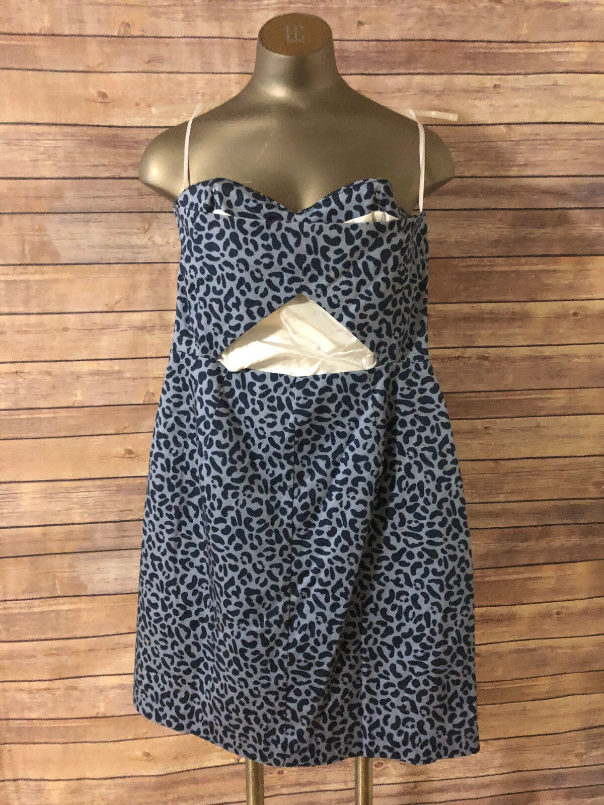 f8ce3fe74dc1 ... HUTCH ANTHROPOLOGIE STRAPLESS DRESS SIZE 6 blueE FORM FITTING FITTING  FITTING NWOT ff5205 ...