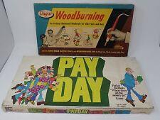 Vintage Payday Board Game & Woodburning Kit