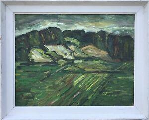 Hugo-Knobloch-1928-rostock-Alpes-montanas-naturaleza-60-5-x-75-0-expressiv