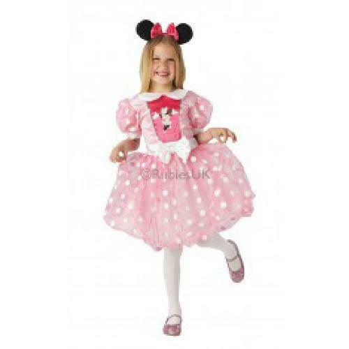 Pink Glitz Minnie Mouse Kids Disney Costume Mickey Mouse Fancy Dress