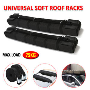 Double-Car-Roof-Soft-Racks-Top-Luggage-Carrier-Surf-Kayak-Surfboard-Canoe-Ski-AU