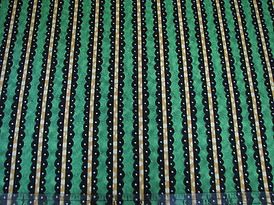 3 Yards Quilt Cotton Fabric - ITB Not So Spooky Halloween Coord Stripe Green