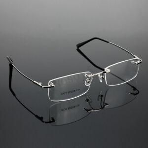 4ec004ff8a3a Image is loading Hot-Men-Rimless-Glasses-Rx-Optical-Eyeglasses-Memory-