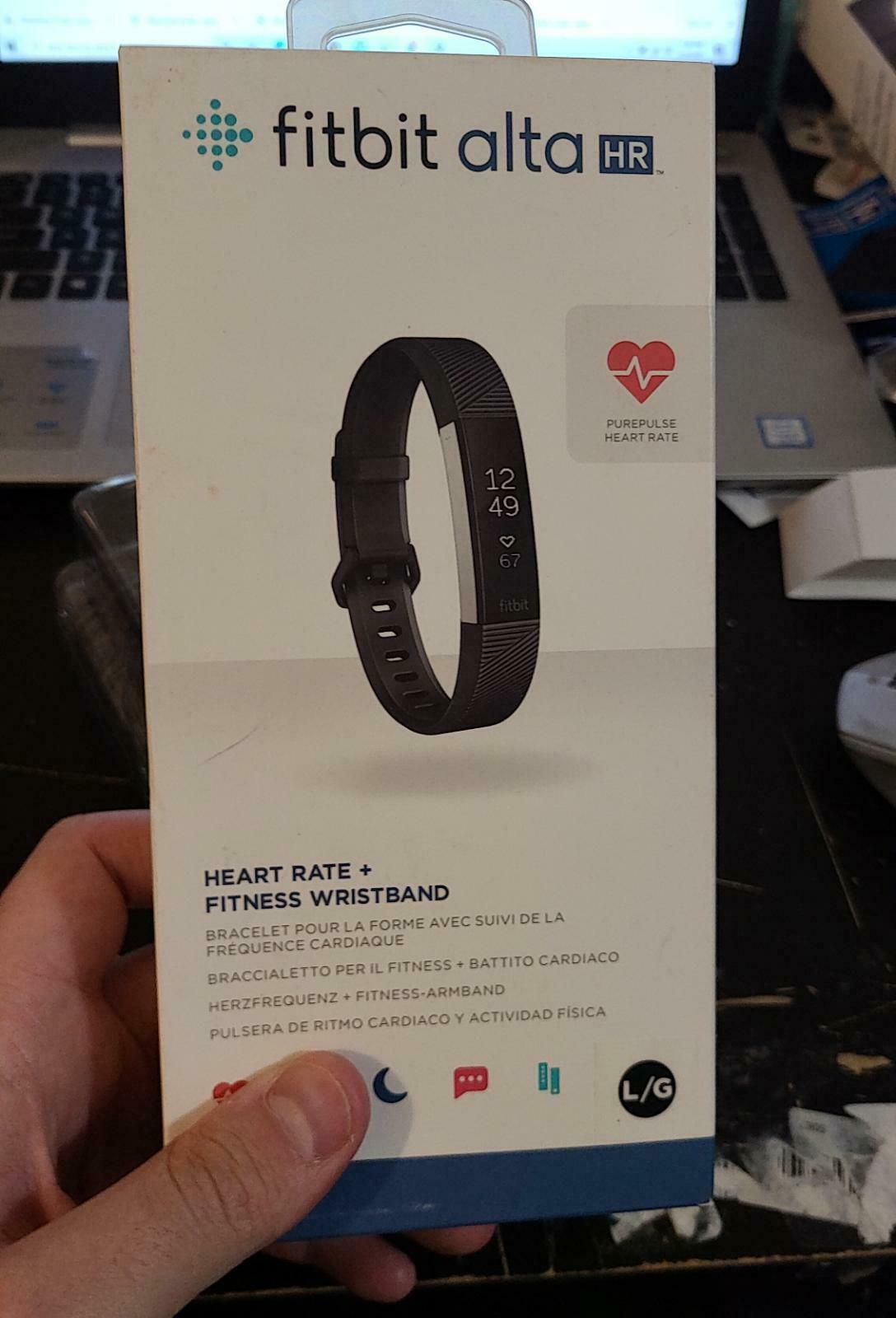 Fitbit Alta HR Activity Tracker + Heart Rate   Large   Black Brand New Fitness activity alta black brand Featured fitbit heart large new rate tracker