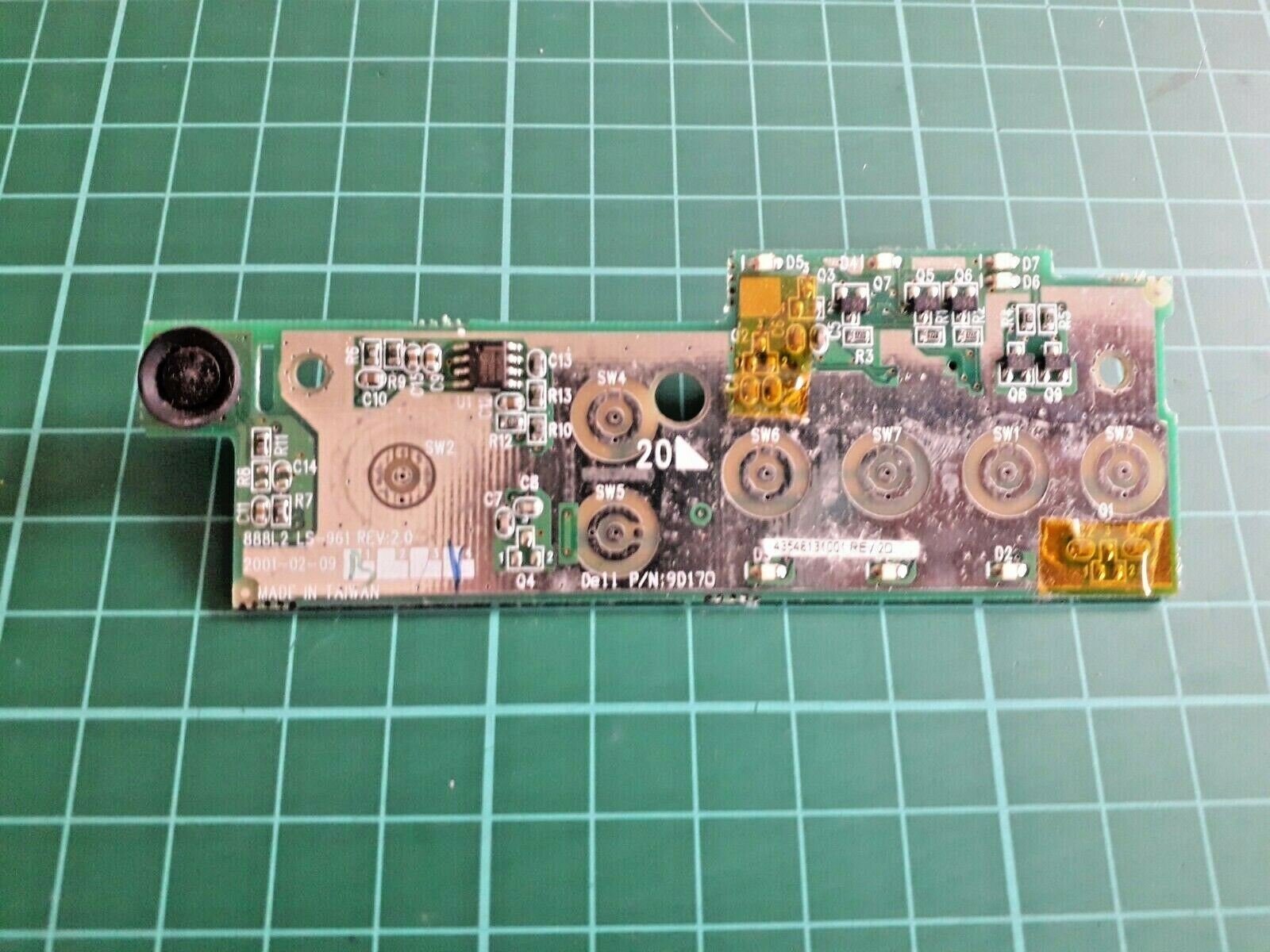 Dell Inspiron 2500 - Media - LEDs - Power Buttons Board - 9D170 - 45546131001