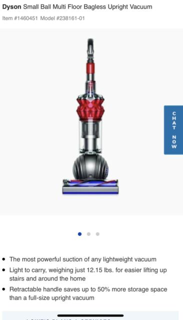 Dyson Small Ball Multi Floor Upright Vacuum - Red