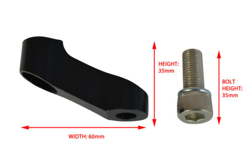 PAIR Details about  /Motorbike Mirrors Extenders 6cm fits Yamaha and Ducati Bikes BLACK