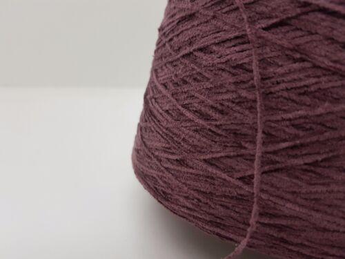 Wolle Garn Stricken Weben /& Handstricken Chenille 100/% BW burgund 800gr cf34