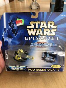STAR-WARS-MIcro-Machines-Podracer-Pack-IV-NIB-Vintage-1998