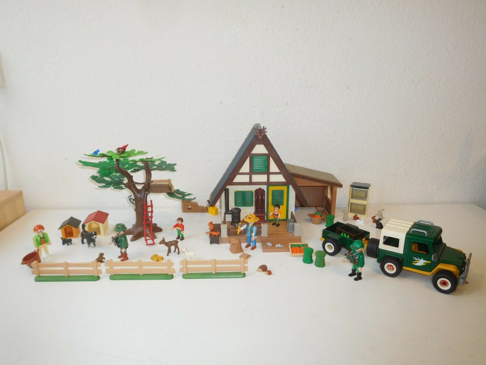 Playmobil forestry set with car