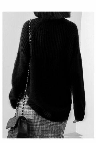 Sweater Women Turtleneck Female Imitation Cashmere Warm Knitting Solid Pullovers