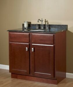 "JSI Craftsman Bristol Cherry 30"" x 21"" Bathroom Vanity ..."