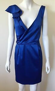 100-OFF-G-Label-by-George-Blue-Cocktail-Dress-sz-16-NWT-Was-159