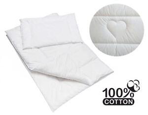 2 Pièce 100% Coton Bébé Couette Et Oreiller Pour Lit Junior-motif Coeur-afficher Le Titre D'origine