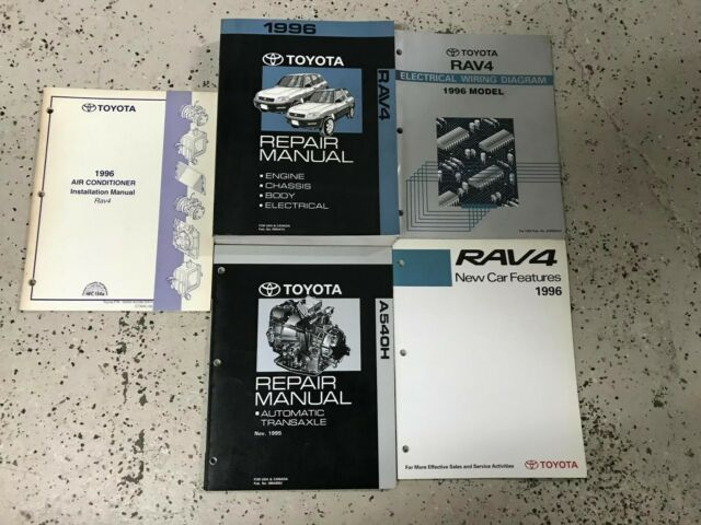 1996 Toyota Rav4 Rav 4 Service Shop Repair Workshop Manual Set Oem W Ewd   More