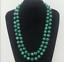approx. 88.90 cm Nuevo largo 8 mm Collar de Abalorios Redondo de piedras preciosas de Malaquita Verde 35 in