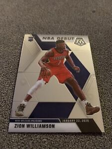 ZION-WILLIAMSON-RC-2019-20-Panini-Prizm-Mosaic-NBA-Debut-ROOKIE-269-Pelicans