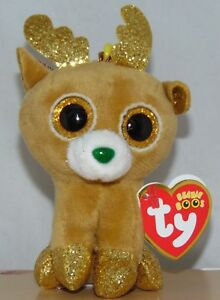 054370c74d9 New! 2018 Holiday Ty Beanie Boos GLITZY the Reindeer Key Clip Size ...