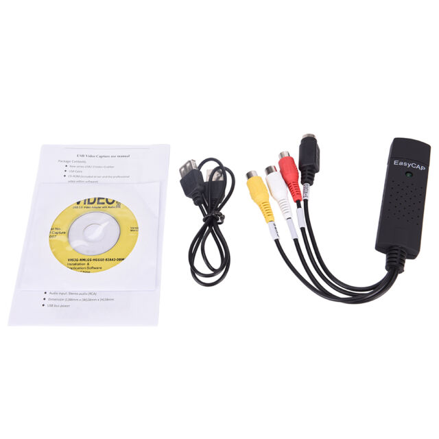 Easycap USB 2.0 TV Video Audio VHS to DVD HDD Converter Capture Card Adapter @@