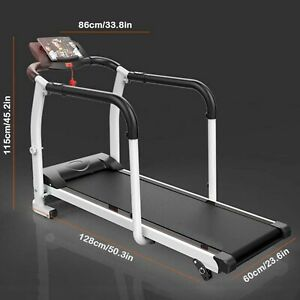 home elderly folding power treadmill cardio walking