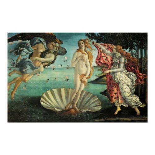 The Birth of Venus Poster Sandro Botticelli Venus Sea Woman Italy Classic Décor