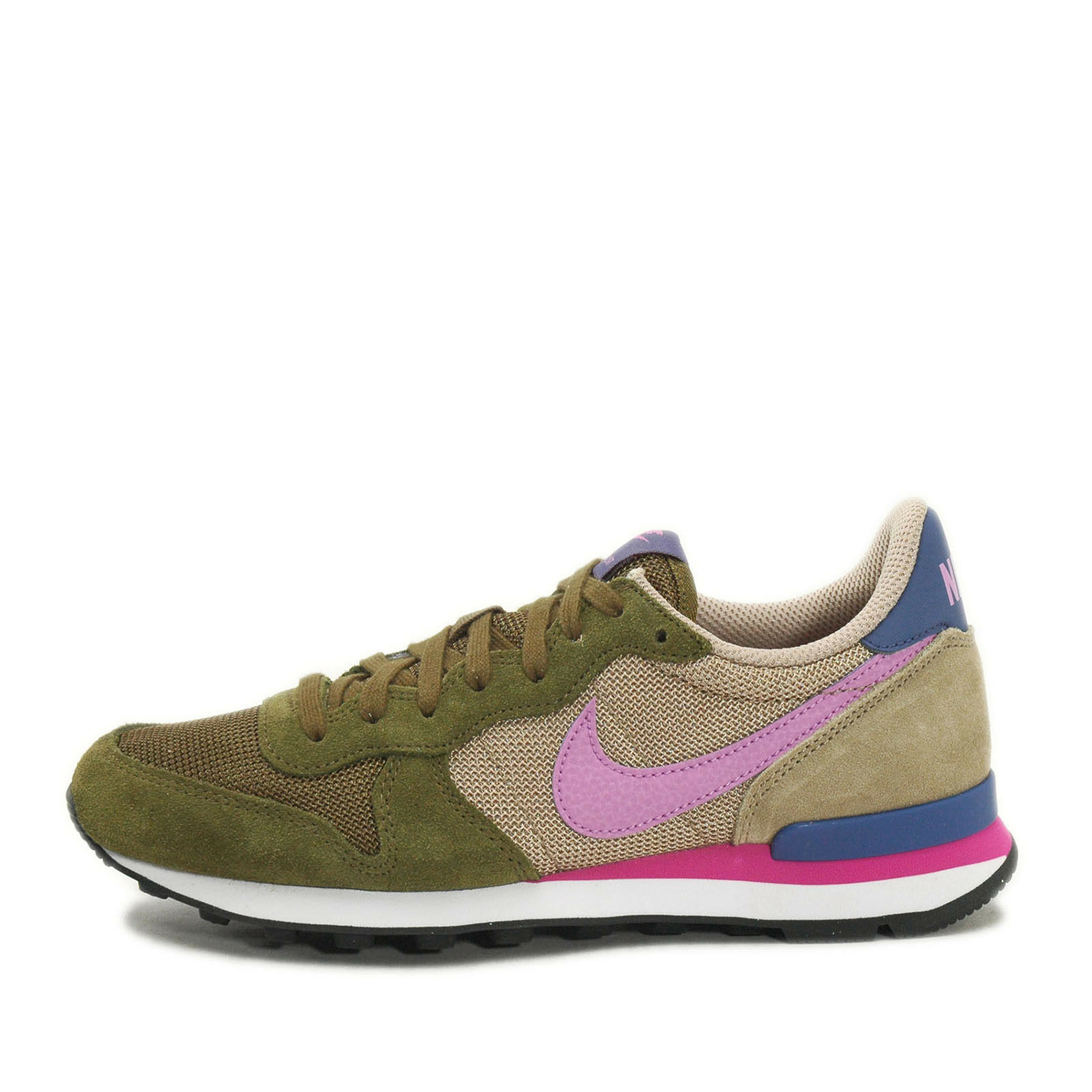 Nike WMNS Internationalist [629684-303] NSW Running Faded Olive/Fuhchsia FDD OLIVE/FCHS GLW-BMB-BL LGND...