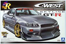 Aoshima 41017 Nissan Skyline GT-R (R34) C-WEST Version 1/24 scale kit