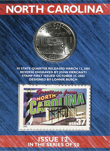 USPS North Carolina State Quarter� and Stamp Set