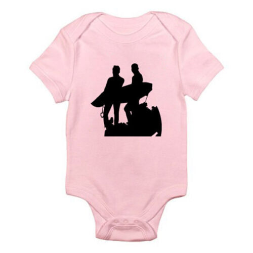 Suit Surf Sports SURFING SILHOUETTE Beach Novelty Themed Baby Grow