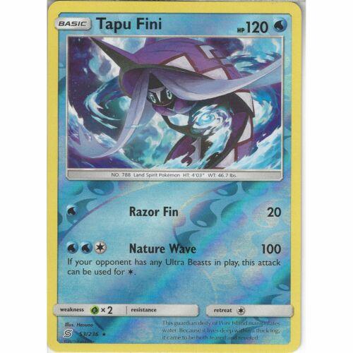 53//236 Tapu FiniRare Reverse HoloPokemon Trading Card Game Unified Minds
