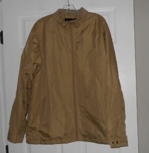 cf5732b8a0a Totes brand ladies size Large rain jacket zip front lined Khaki NWOT ...