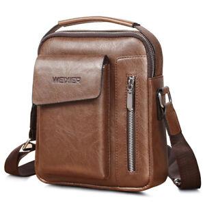 Men-039-s-Leather-Handbag-Messenger-Bag-Cross-body-Tote-Briefcase-Shoulder-Satchel