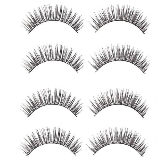 Quality Eye Lashes Makeup 10PCS Long Thick Cross False Eyelashes Beauty Tools