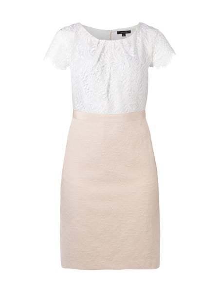COMMA Kleid Kleid Kleid mit Oberteil aus floraler Spitze - HellRosa Gr.42 b4629a