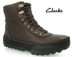 CLARKS-hommes-MOULINET-Frost-doublure-chaude-CUIR-BRUN-UK-8-vrai-8-5
