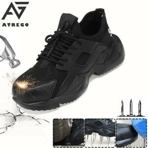AtreGo-Men-039-s-Safety-Steel-Toe-Cap-Work-Trainers-Shoes-Protective-Hiking-Boots