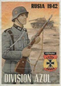 WW2-RATION-CURRENCY-SHEET-w-NAZI-SOLDIER-SWASTIKA-amp-TANK-RUSSIA-1942-8-x-12