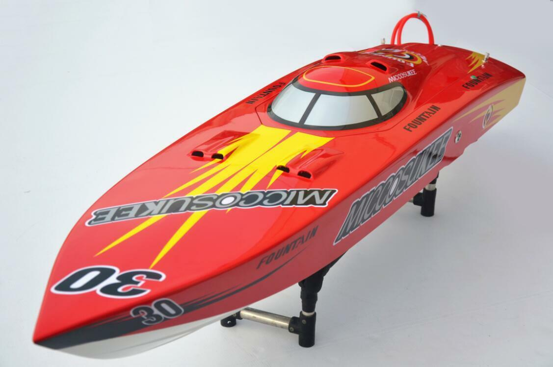 G26IP1 26CC Gas Engine Clutch ARTR Ver Boat Monohull 50  Fiberglass Rudder Red