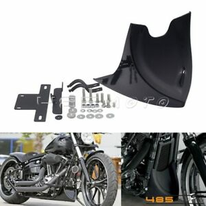 Front-Chin-Spoiler-Lower-Chin-Air-Dam-Fairing-Mudguard-Cover-For-Harley-Softail