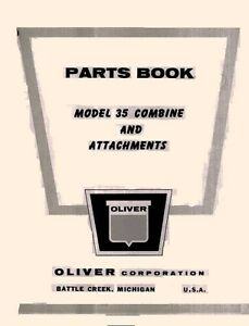 Oliver-Model-35-Combine-and-Attachments-Parts-Manual