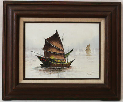 LMOP905 ship sailing boat in big sea wave hand paint art oil painting on canvas