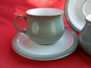 Denby-Regency-Green-2-x-Teacups-amp-Saucers