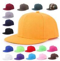 PLAIN SNAPBACK HAT CAPS FLAT PEAK FUNKY RETRO BASEBALL CAP HIP HOP HATS VINTAGE