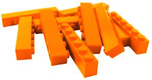 3009 Baustein Basics Bausteine Neu Lego 10 Stück Stein in orange 1x6 Steine
