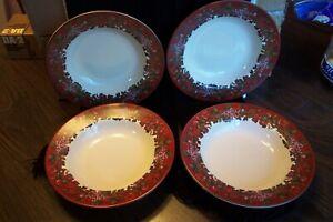 8-Certified-International-China-Raymond-Waites-Cornucopia-Pattern-Rim-Soup-bowls