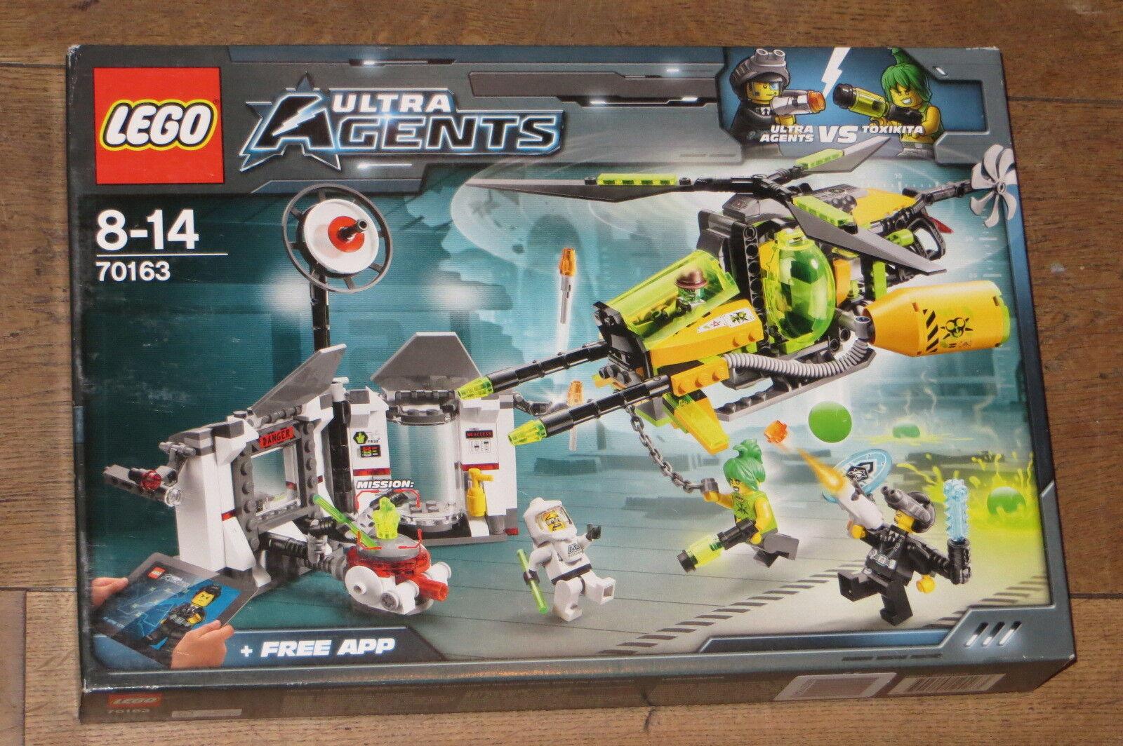 New Sealed Lego Ultra Agents 70163 Toxikita's Toxic Meltdown