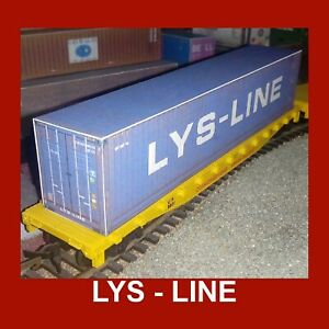 1:76 Oo Scale Cargo Rail Freight Shipping Containers Lys-line (dfds) Pre-weath Produits Vente Chaude